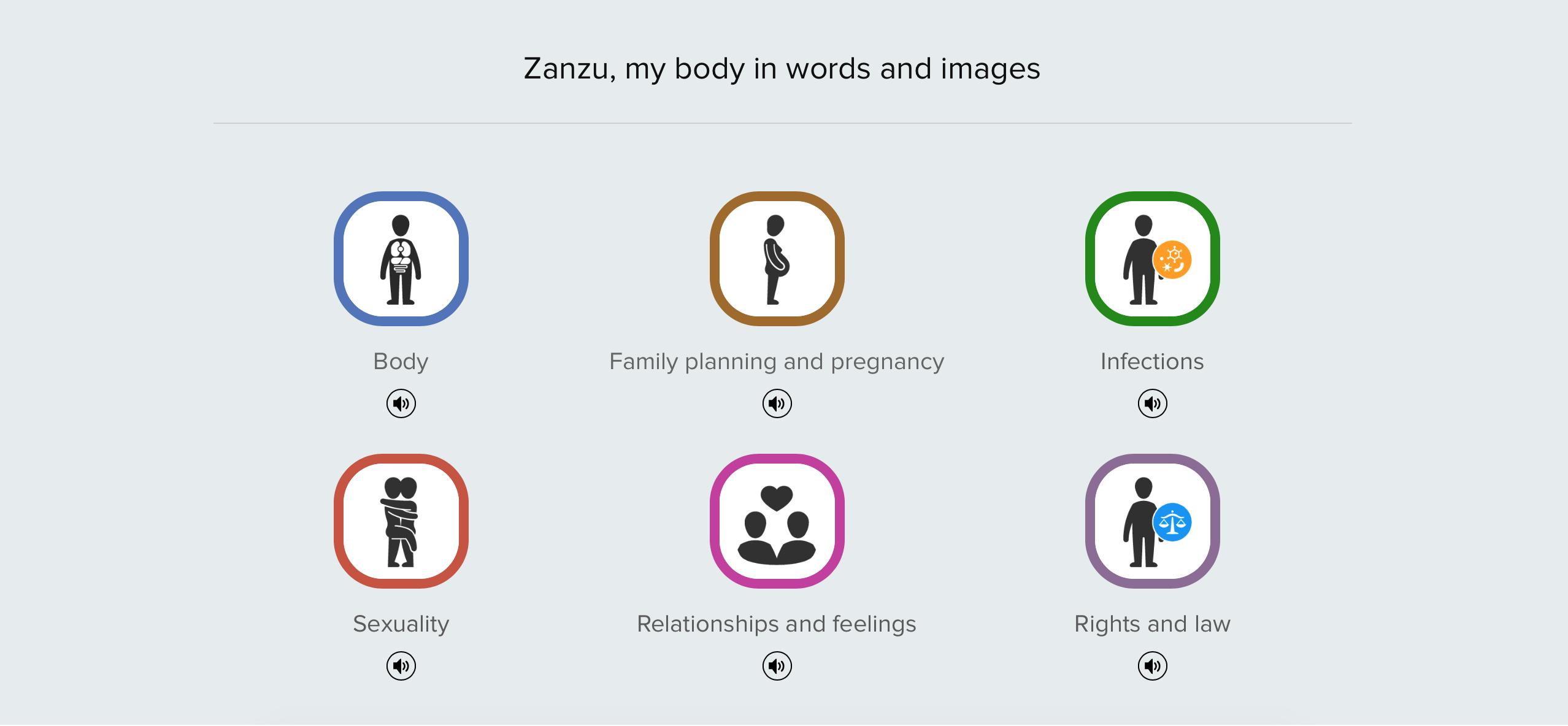 Screenshot von der Homepage www.zanzu.de